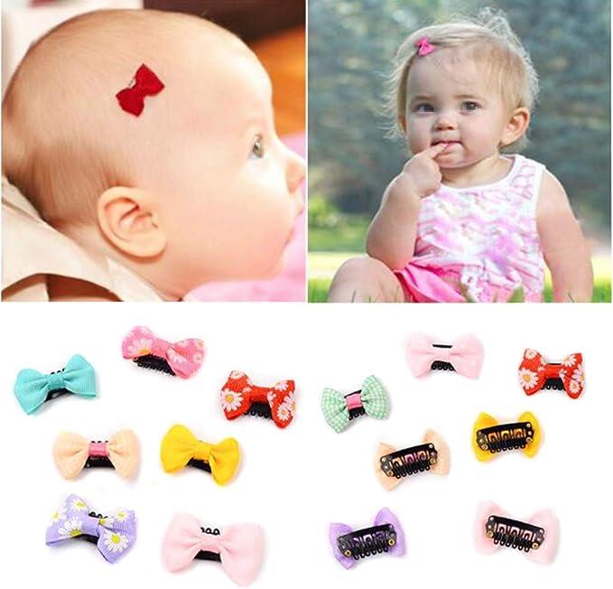 Pinzas para el pelo de bebé, 12 unidades, pequeñas y finas cintas ...