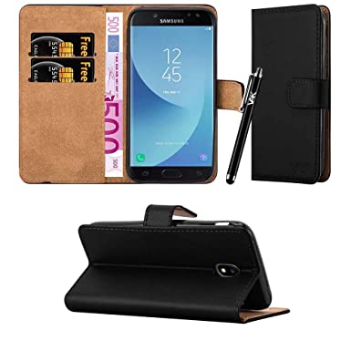 designer fashion 8d9ac 21cbf For Galaxy J5 2017 Case - Wallet Book [Stand View] Card Case Cover Premium  Leather Folio Case for Samsung Galaxy J5 2017 (Black)