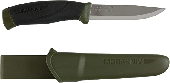 Morakniv Companion Fixed Blade Outdoor Knife with Sandvik Stainless Steel Blade