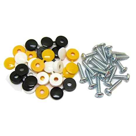 All Trade Direct 8 Pcs Long Number Plate Bolts Nuts Caps Screws Fitting