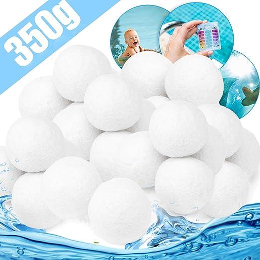 Zaloife Bola de Filtro de Piscina 350g Cuarzo Productos de Sustitución de Arena de Filtro, Bolas
