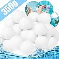 Zaloife Bola de Filtro de Piscina 350g Cuarzo Productos de Sustitución de Arena de Filtro, Bolas del Filtro de Arena del…