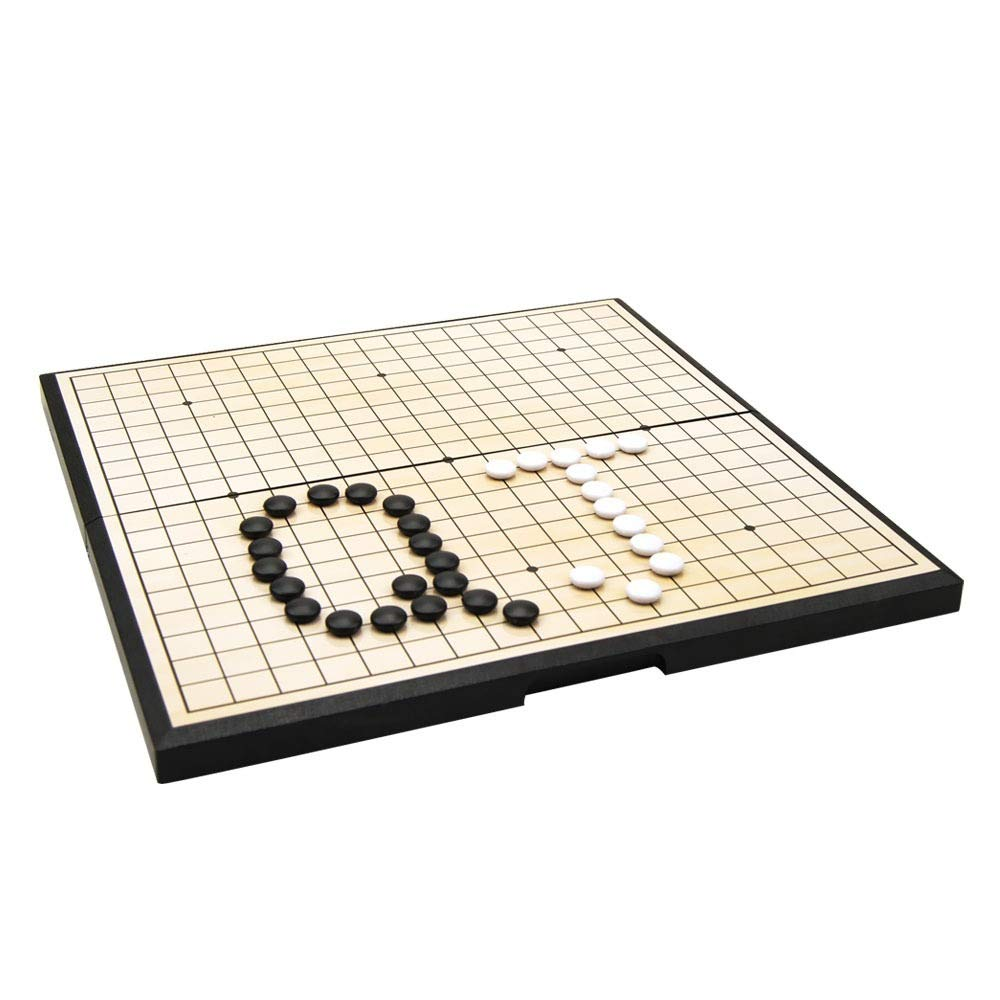As picture 28153cm Go Chess Magnetic Go Game Set with Single Convex Magnetic Plastic Stones and Go Board (color, Size   28  15  3cm)