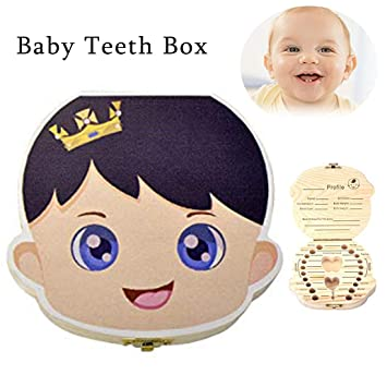 Black-boy Solid Wood Painted Baby Tooth Box Child Placenta Umbilical Cord Preservation Box Child Personality Memorial Tooth House