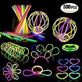 Geekper Glow Sticks Bulk 200 Count - 8'' Premium Glow In The Dark Light Sticks - Makes Tons of Glow Necklaces and Glow Bracelets