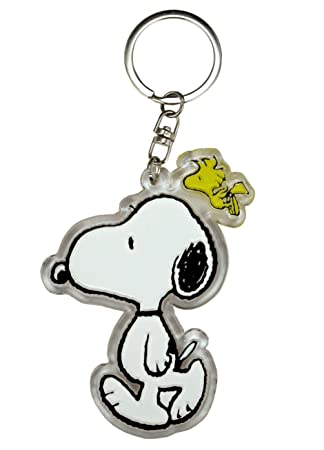 Clear Snoopy and Woodstock Key Chain - Snoopy Llavero ...