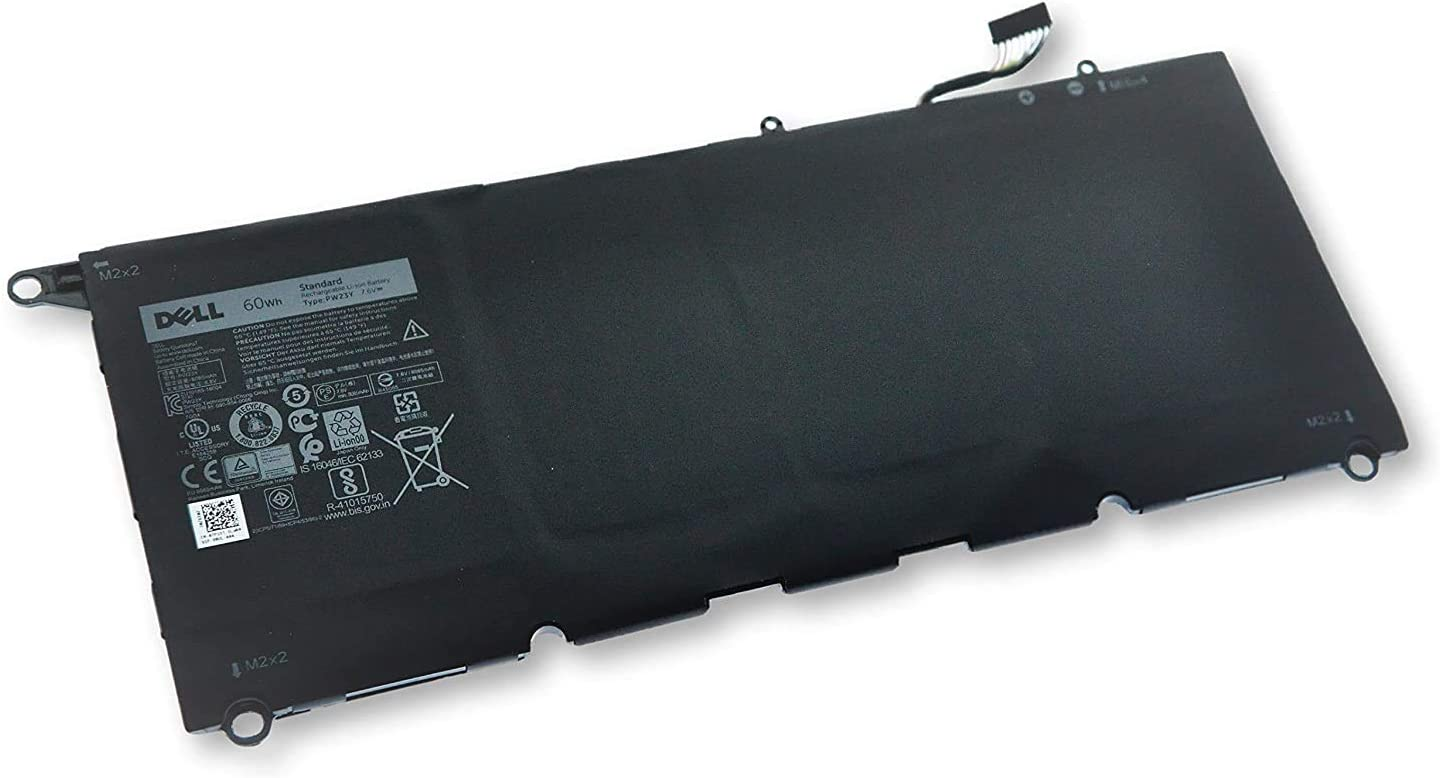Replacement Lipoly Notebook Battery for Dell Xps 13 9360 Series 4-Cells; 7.6V 7890Mah 60Whr