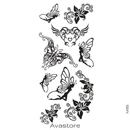 Tatuaje Temporal Hada Mariposa tatuaje efímero hada mariposa ...