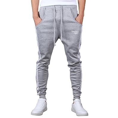 Sasairy Pantalon de Sport Casual Pantalon Sarouel de Danse Jogging Hip Hop  Yoga avec Pochette et 1a4e1aeddb9