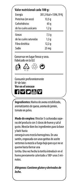 Max Protein Fitzza Harina Avena - 2000 gr: Amazon.es: Salud y cuidado personal