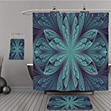harley davidson house floor mats - Uhoo Bathroom Suits & Shower Curtains Floor Mats And Bath Towels 382338436 abstract fractal, symmetrical cyan blue mosaic ornamental pattern with curved stripes, suitable for desktop wallpaper or for