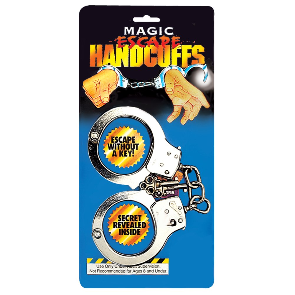 Loftus Secret Easy Escape Magician Handcuffs 4 Magic Accessories Silver Loftus International 38-0007