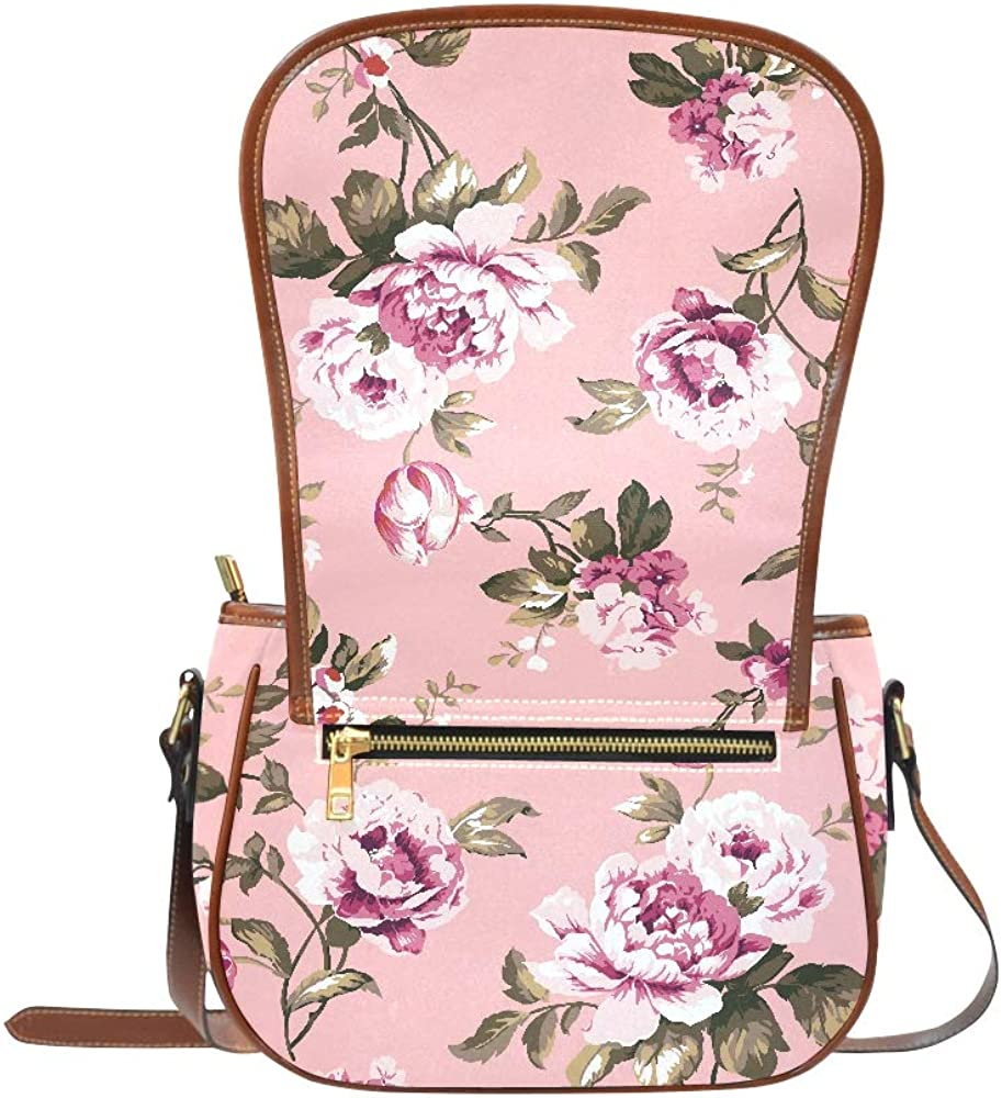 Shabby Chic Vintage Roses Tulips Forgetmenots Saddle Bags Women Flap With Magnetic Snap Printed Girl Shoulder Bag Woman Designer Bag