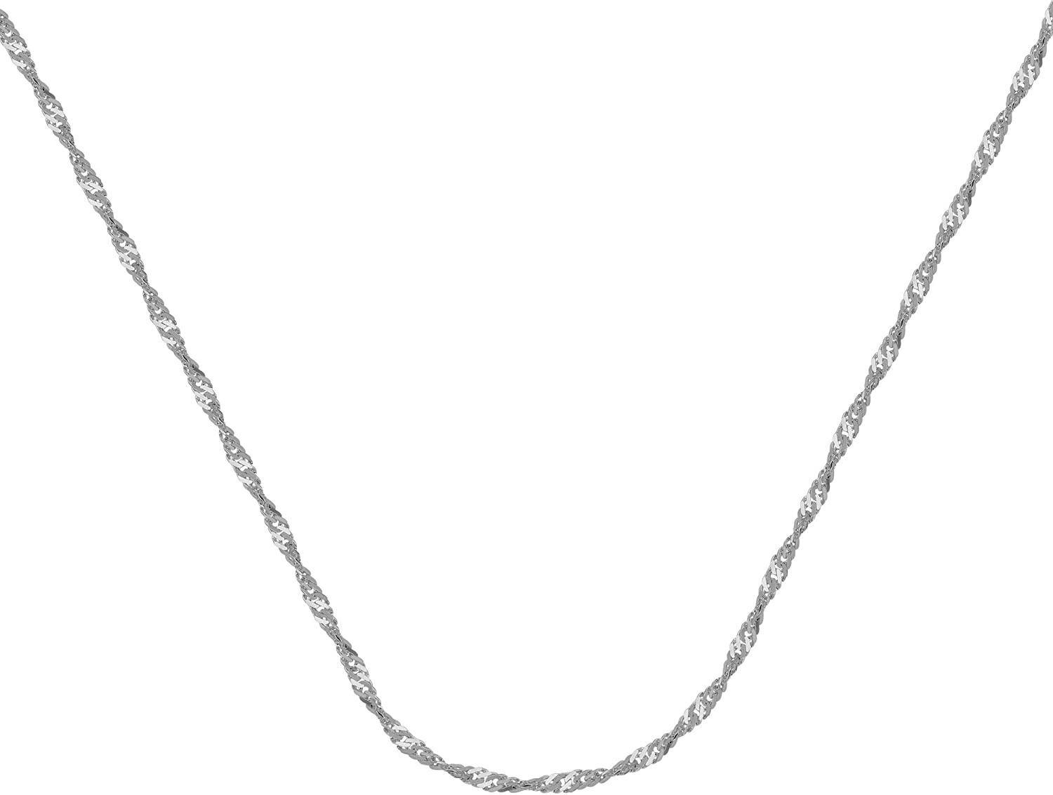 20 INCHES LONG SINGAPORE CHAIN 14KT GOLD SINGAPORE CHAIN WITH LOBSTER LOCK