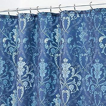 """Lexi Aqua Lilac Grey Geometric Medallion Fabric Shower Bath Curtain 70/""""x70/"""""""