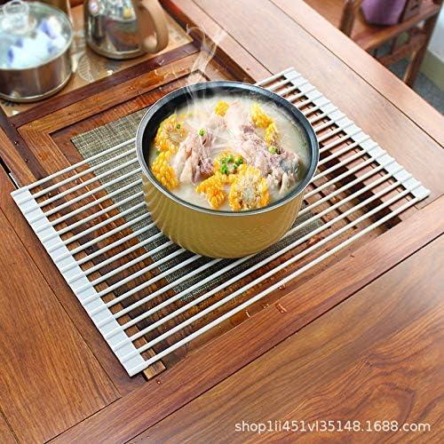 50,8 x 33 cm Fuxi Scolapiatti Pieghevole Arrotolabile per lavello scolapiatti da Cucina