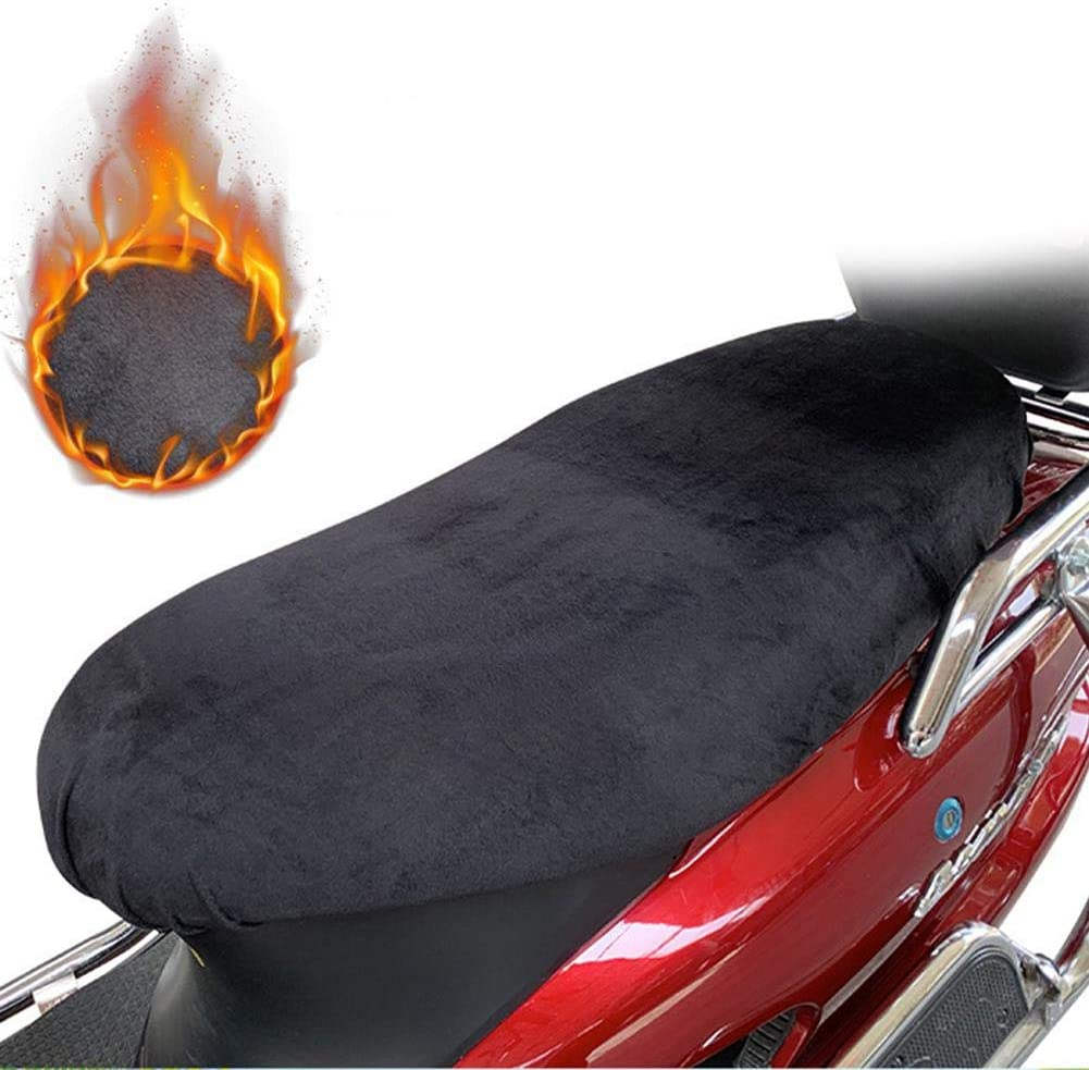Leather Waterproof Rain Dust UV Double Sided Seat Pad Protector Velvet Warm Soft For Winter For Motorbike Scooter Seat Hete-supply Motorcycle Seat Cover Cushion