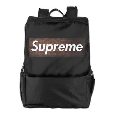 A Bape Supreme Logo Backpack Travel Bags Rucksack Roller Backpack Light Daypack