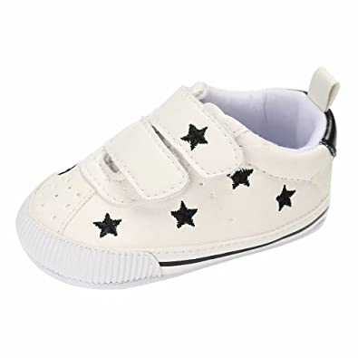 7c604044efeb Zerototens Toddler Kids Baby Boys Girls Cotton Sole Soft Breathable Crib  Star Pattern Casual Flat Shoes