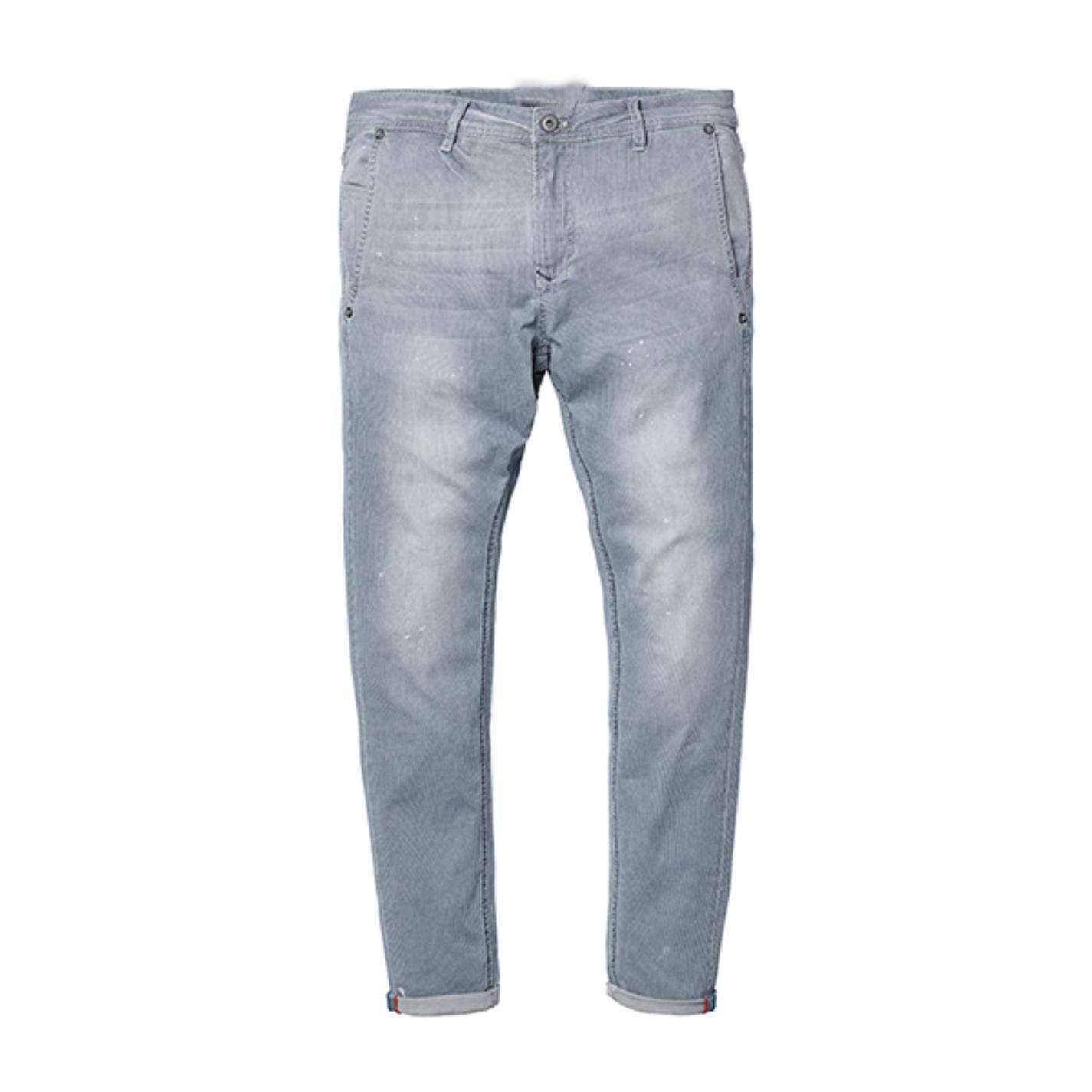 kjPmgDxK Striped Jeans Men Skinny Thin Fashion Slim Fit Denim
