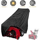"""Tvird Snow Thrower Cover, Two Stage Snow Blower Cover, Large Size 60"""" L x 33"""" H x 45"""" W for Most Electric Snow Blowers,Waterproof Dustproof,Includes Locks Drawstring,Buckles,and Carry Bag"""