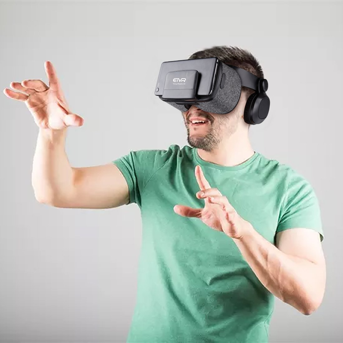Ultralight Virtual Reality Headset with Stereo Headphones, 3D VR Glasses for VR games & 3D Movies, Comfortable & Immersive Experience VR Goggles for 4.7 - 6 inch IOS/Android Smartphones by geek-2016 (Image #7)
