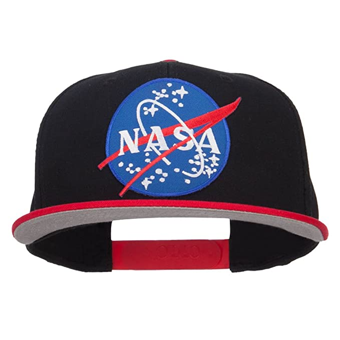 E4hats Lunar NASA Patched Two Tone Snapback - Red Black OSFM at Amazon  Men s Clothing store  4b20539c65c