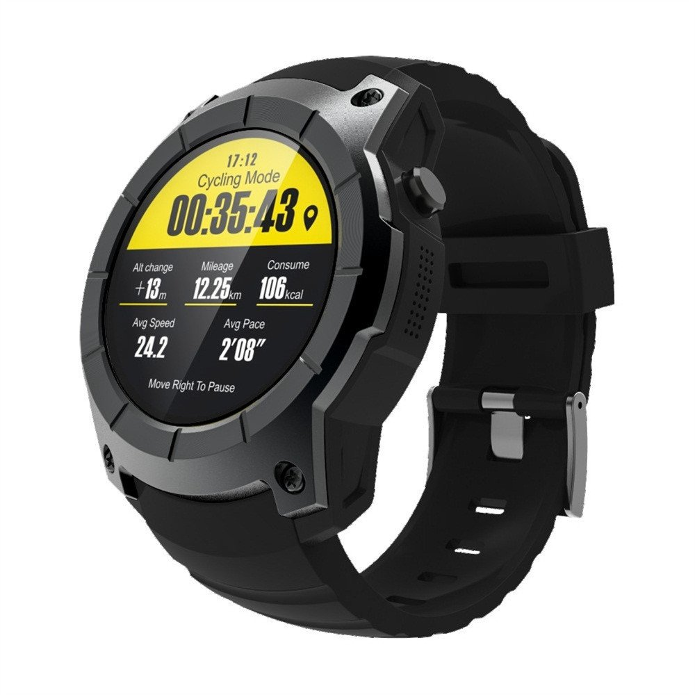Core Military Men's Outdoor Sports Watch-Bluetooth Smart Watch Support GPS,Air Pressure,Call,Heart Rate -Steplove (Black)