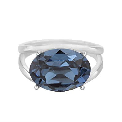 3c372675a Amazon.com: Devin Rose Split Shank Ring for Women in 925 Sterling Silver  Made With Swarovski Crystal (): Jewelry