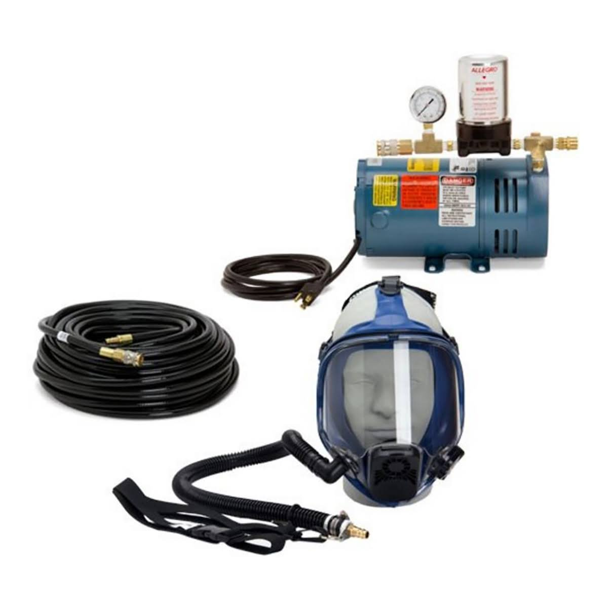 Allegro Double Worker Fresh Air System, 200' Hose, 2 Face Masks, 2 Packs Tear-Offs 9210-02