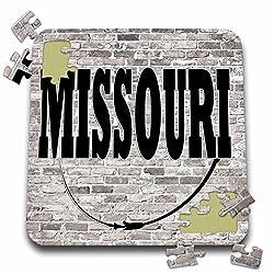 3dRose RinaPiro - US States - Missouri. State Capital is Jefferson City. - 10x10 Inch Puzzle (pzl_268704_2)