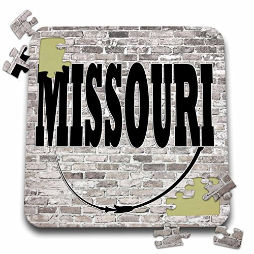 RinaPiro - US States - Missouri. State Capital is Jefferson City. - 10x10 Inch Puzzle (Jefferson Towel)