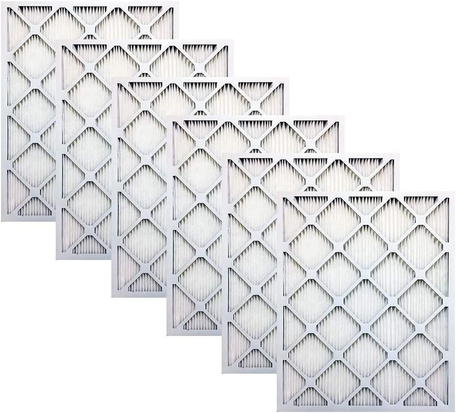 Actual Size High Efficiency Allergen Reduction Air Filter//Furnace Filter 6 Pack Accumulair Titanium 17.25x29.25x1