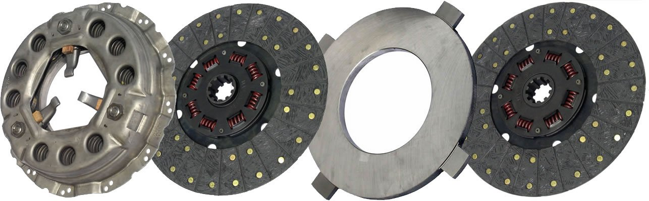 IATCO LP1931-144-IAT 330mmx1-3/4'' Stamped Steel Clutch (Two-Plate, Push-Type, Organic / 8-Spring, 2000 Plate Load / 600 Torque)