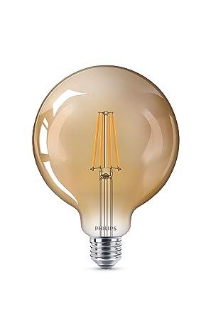 Philips LED bombilla forma globo, consumo de 8W equivalente a 50 W de una bombilla
