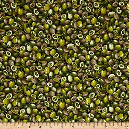 Fabri-Quilt Farmer John Garden Green Olives Fabric by The Yard