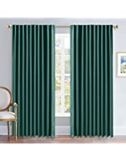 NICETOWN - Back Tab/Rod Pocket Solid Blackout Curtain Drape