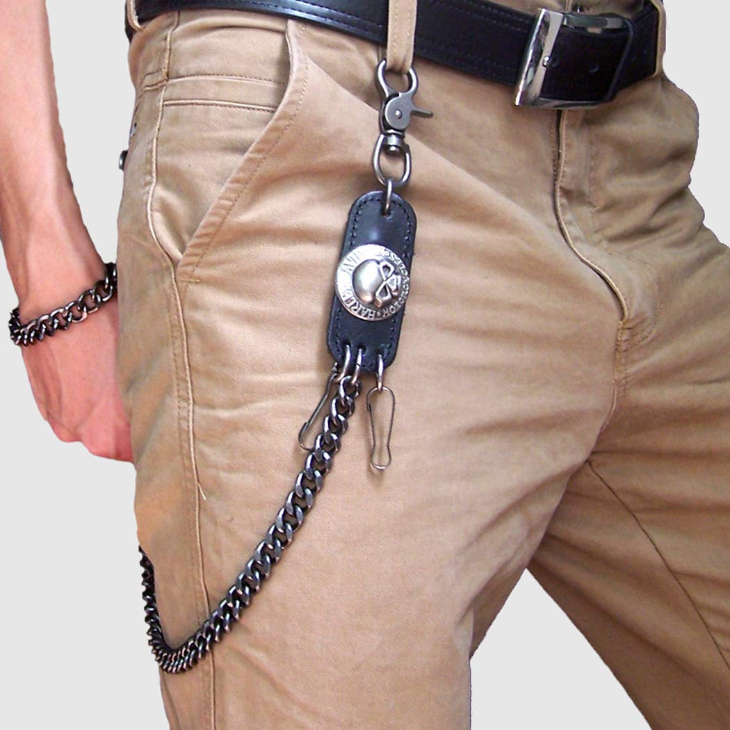 Fascigirl Jeans Chain Fashion Casual Skeleton Head Decor Pantalones Chain Wallet Chain para Hombres y Mujeres
