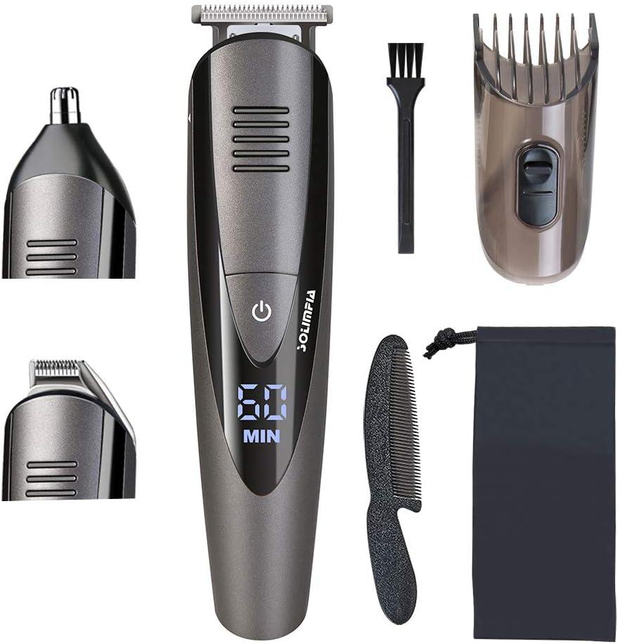 SOLIMPIA Cortapelos Electrónico Hombres Recortadora Maquina Profesional Cortar Pelo Recortador de barba y pelo, óptima precisión,