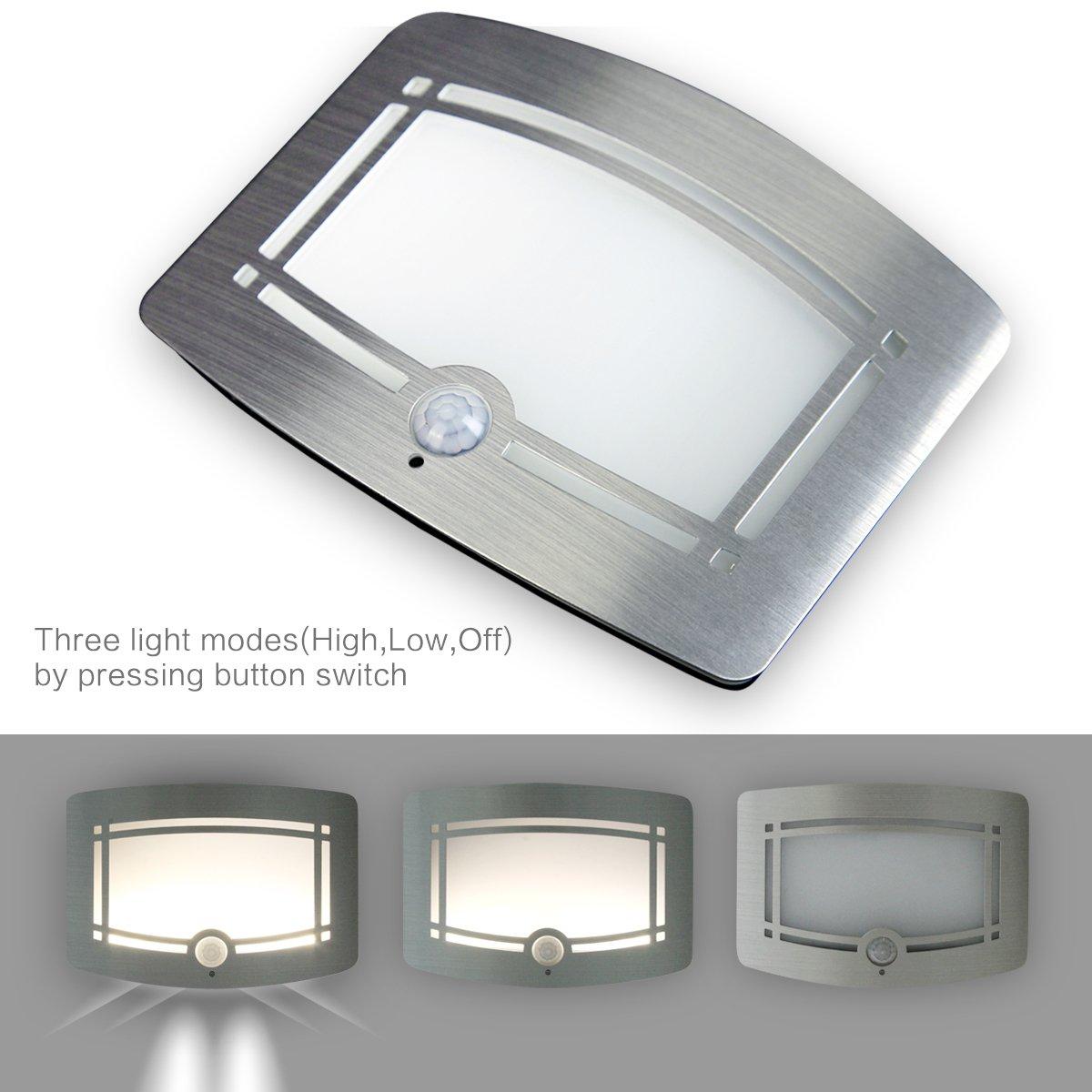 Motion Sensor LED Night Light,Wireless Battery Powered Wall Lamp,Stick Anywhere Wall Sconce,Aluminum Case Closet Light,Safe Light for Stair, Hallway,Bathrom,Bedroom,Kitchen by Kalefu (Image #5)
