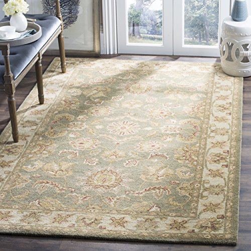 Safavieh Antiquities Collection AT313A Handmade Traditional Oriental Green and Gold Wool Area Rug (3' x 5')