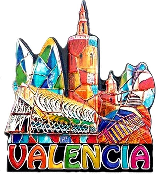 Imán para nevera Valencia España 3D, colección de regalos de ...
