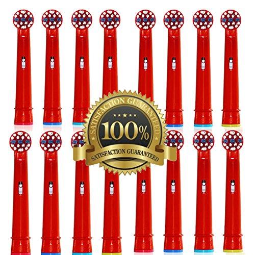 Drkao16 Stück Aufsteckbürsten für Oral B Kinder Elektrische Zahnbürstenköpfe für Braun Oral B Elektrische Zahnbürste Kinder Aufsteckbürsten Köpfe für Oral-B kids Aus Hochwertigem Dupont-Nylon