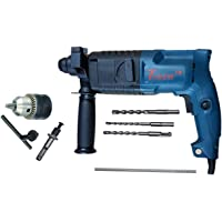 Inditrust 20 mm Rotary Hammer Drill Machine with 3 Bits (6,8 and 10mm) and Carrying Box (Colour May Vary)