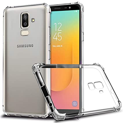 Galaxy J8 2018 Case, Zeking Slim Thin Anti-Scratch Clear Flexible TPU Silicone with Four Corner Bumper Protective Case Cover for Samsung Galaxy J8 ...