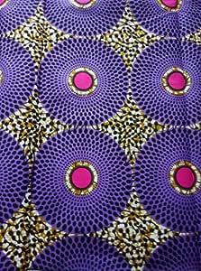 African Fabrics Tela de Tela de algodón para Coser Vestidos ...