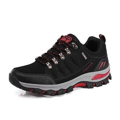NEOKER Wanderschuhe Damen Herren Trekking Schuhe Outdoor Walkingschuhe Fitnessschuhe Schwarz Armeegrün 35-45 Grau + Pink 35 S7tVGzev