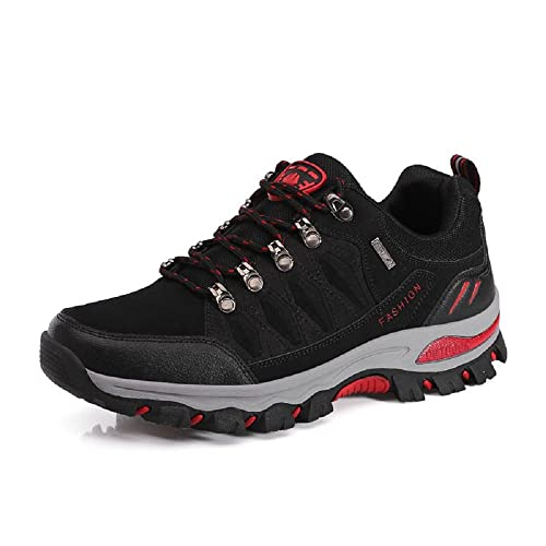 NEOKER Wanderschuhe Damen Herren Trekking Schuhe Outdoor Walkingschuhe Fitnessschuhe Schwarz Armeegrün 35-45 Schwarz 39 yGPRK