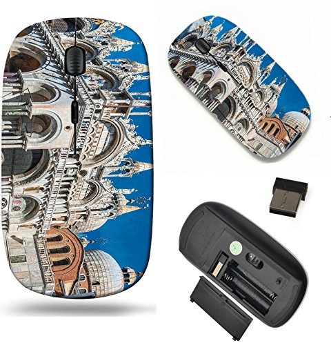 MSD Wireless Mouse Travel 2.4G Wireless Mice with USB Receiver, Noiseless and Silent Click with 1000 DPI for notebook, pc, laptop, computer, mac book design: 31902363 Basilica di San Marco - Marcos San Marc