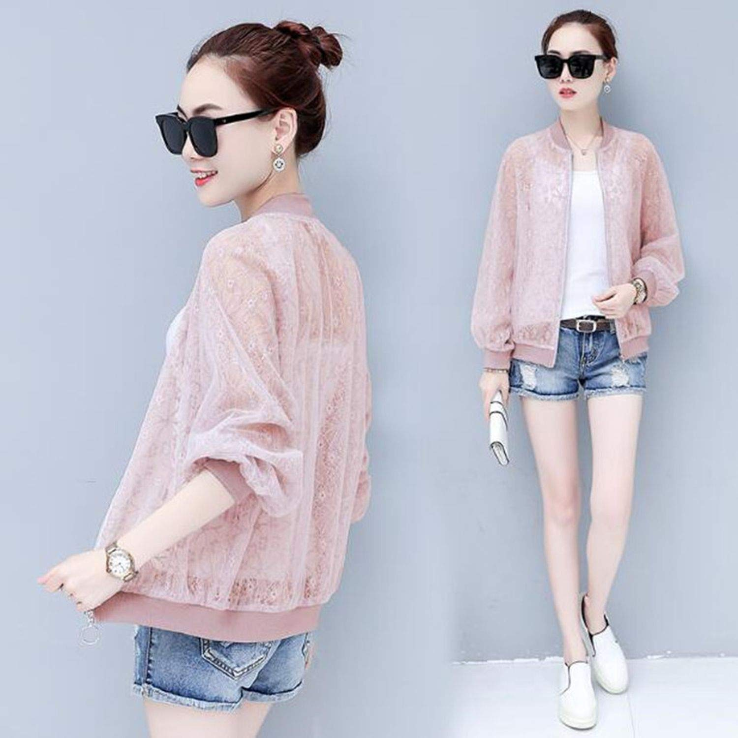 Summer Sun Clothes Clothing Women Short Section Summer New Light Breathable Hook Flowers Hollow Lace Cardigan Loose Coat
